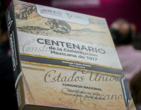 """Presentan Libro """"Centenario De La Constitución Mexicana De 1917"""", Obra Editada Por El TJA Guanajuato Y El IEEG."""